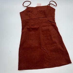 Lottie Moss Dresses - Lottie Moss Rust corduroy Dress